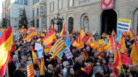 Los catalanes en España quieren su propio Estado.  © AFP JOSEP LAGO.
