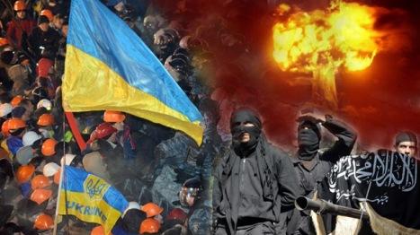 Washington y  sus aliados occidentales provocaron el Euromaidan en Kiev con el propósito de sacar a Ucrania de la esfera de influencia de Rusia. Foto: RT AFP/ Wikimedia.org.