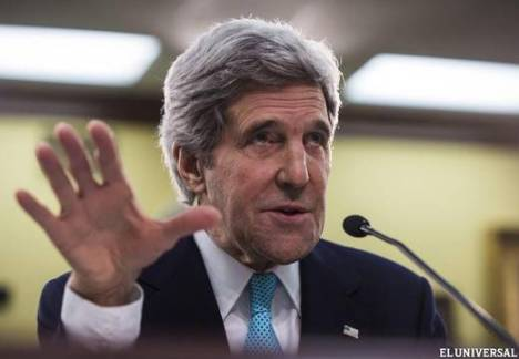 Kerry ratifica intento de Washington de derrocar gobierno venezolano. Foto: Efe.