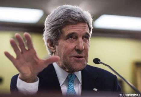 Kerry ratifica intento de Washington de derrocar gobierno venezolano. Foto: Efe.