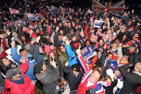 Gran Betaña impuso un referendo en las Isla argentinas de las Malvinas para perpetuar su dominio de ese estratégico territorio del Altántico Sur. © AFP TONY CHATER.