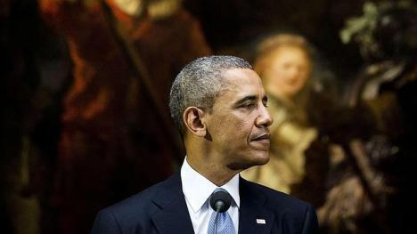 El presidente de Estados Unidos, Barack Obama, ya se encuentra en Holanda para la cita con el G-7. Foto: AFP