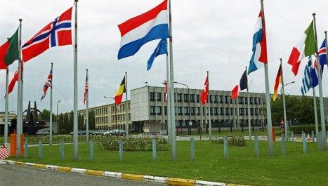 Cuartel General de la OTAN en Bruselas, la capital de Bélgica.
