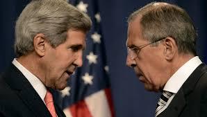 El canciller rusoSerguéi Lavrov demanda a John Kerry respeto al referendo de Crimea. Foto: Ria Novostí.