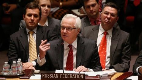 El representante ruso en el Consejo de Seguridad de la ONU planta cara a las potencias occidentales, que aún no salen del asombro por la rápida respuesta de Moscú ante el golpe de Estado ern Ucrania. © REUTERS Shannon Stapleton.