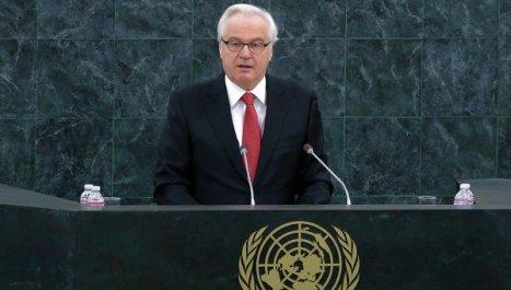Representante ruso ante la ONU, Vitali Churkin. Foto: © REUTERS/ Eduardo Munoz.