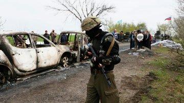 El ataque en Slaviansk Foto: © REUTERS/ Gleb Garanich