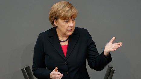La canciller alemana Angela Merkel asegura que contestarán la carta del presidente ruso Vladimir Putin. Foto: © REUTERS Fabrizio Bensch.