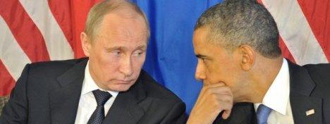 Putin y Obama en junio de 2012 en Los Cabos, México, donde se celebró una cumbre del G-20. Foto: EFE.
