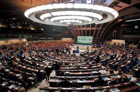 Foto archivo de una sesión de La Asamblea Parlamentaria del Consejo de Europa.