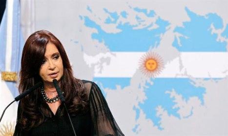 Cristina encabezó el acto por las Malvinas en Casa de Gobierno. FUENTE: TÉLAM