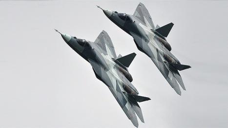 El cazabombardero ruso de quinta generación T-50. Foto: © RIA Novosti Vladimir Astapkovich.