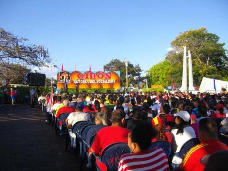 Los habitantes de la Ciénaga de Zapata celebraron el aniversario 53 de la victoria de Girón Foto: Ventura de Jesús García.