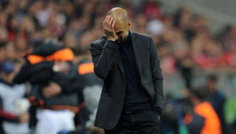 El técnico catalán Pep Guardiola en una hora baja en Alemania.
