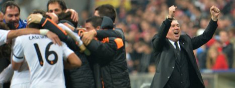 Carlo Ancelotti celebra la victoria de su equipo Kerstin Joensson. Foto: AP.
