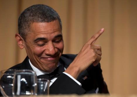 Barack Obama, durante la cena de corresponsales de la Casa Blanca. Foto: AP.