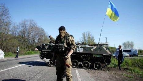 Soldados ucranianos en Slaviansk (este de Ucrania ). Foto: © REUTERS/ Marko Djurica.