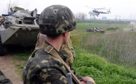 Tropas ucranianas en acción enSlaviansk. Foto:  © AFP Vasily Maximov.