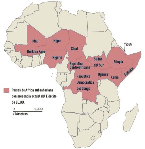 El ejército de EE.UU. actuando de policía neocolonial  y con acciones injerencista en África.