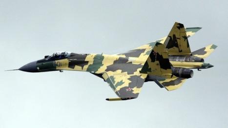 El modernísimo avión ruso Su-35. Foto:  RIA Novosti Anton Denisov.