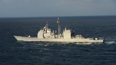 El crucero portamisiles norteamericano Foto: © REUTERS Mike DiMestico