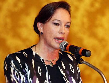 Ministra de defensa de Ecuador.