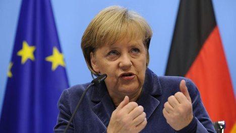 La canciller alemana Angela Merkel no quiere saber nada de una guerra contra Rusia por Ucrania.