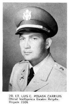 Luis Posada Carriles en el Ejército de Estados Unidos.