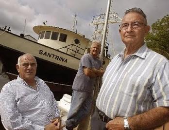 De izquierda a derecha, los terroristas Santiago Alvarez, Osvaldo Mitat y José Hilario Pujol.