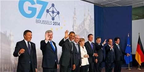 Foto: Reuters Los líderes de las potencias mundiales reunidos por el G7 en Bruselas.