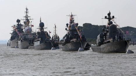 Barcos de guerra rusos en maniobras navales. Foto: © RIA Novosti Igor Zarembo.