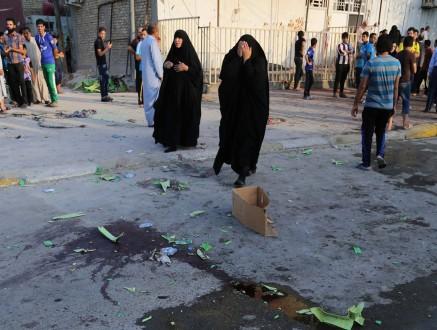 Civiles después de un ataque suicida en Bagdad, Irak,  Foto: AP.