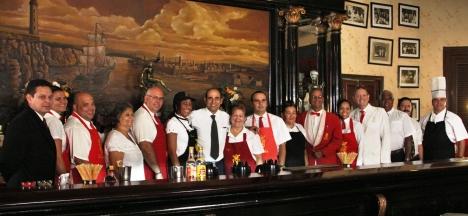 El colectivo de trabajadores del Floridita ha sido fiel a la tradición legada en 197 años de fundada de esa unidad perteneciente a la empresa extra hotelera Palmares.