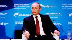 El presidente ruso Vladimir Putin en el Club de Valdai, Sochi, octubre de 2014.